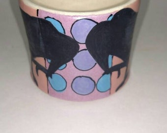 Juice cup with cows and crows