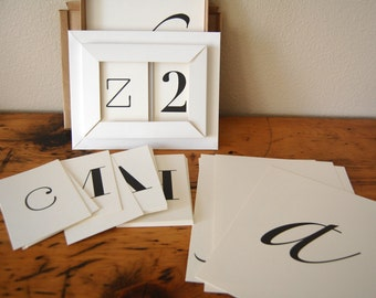 Typography Alphabet Pottery Barn Typography Alphabet Cards Large and Small Typography Alphabet Cards from The Eclectic Interior