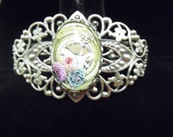 Past Memories Filigree Cuff Bracelet
