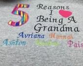 Personalized grandma crew neck sweatshirt xl