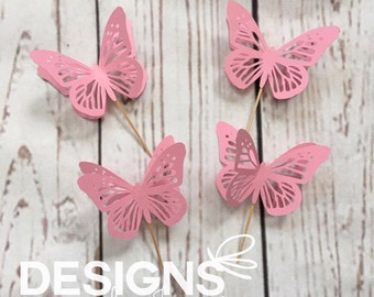 Butterfly Cupcake Topper, Baby Shower Cupcake Topper, Butterfly Cutout, Butterfly Theme