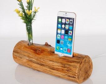 iPhone Dock plus Vase holder  - charging station - docking station - iPhone 5s charging, iPhone 6s charging