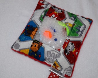 Paw Patrol White with Red Minky Dot Seek And Find I Spy Bag