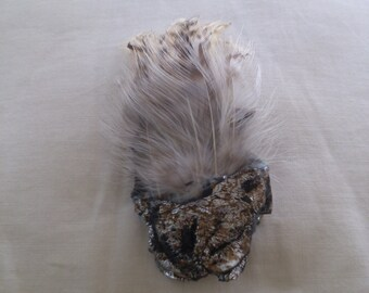 REDUCED  Artist Original Feather Brooch