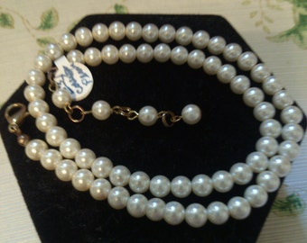 Faux Pearls with Extender Chain