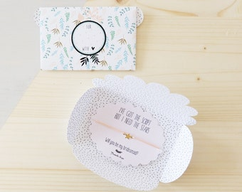 Will you be my flower girl bracelet - Wedding gift - Ask flower girl - personalized gift wedding