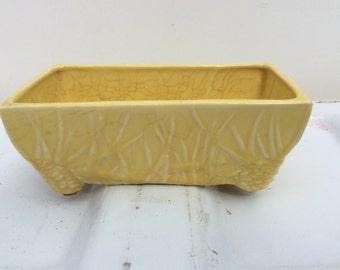 Vintage McCoy pottery window planter yellow