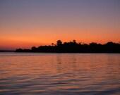 """Africa Photography, """"Sunset on the Zambezi"""", Travel Photography, Zambezi River, Customizable Sizes Upon Request"""