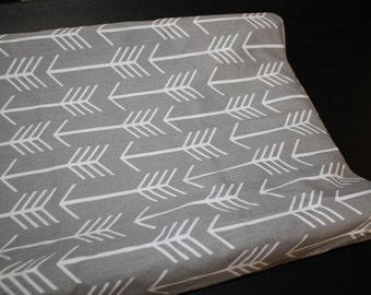 Gray Arrows Contour Changing Pad Cover - Tribal, Baby, Western - Ready to Ship