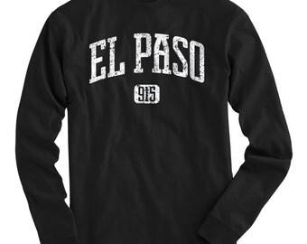 LS El Paso 915 Tee - Long Sleeve T-shirt - Men and Kids - S M L XL 2x 3x 4x - El Paso Shirt, Texas - 4 Colors