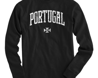 LS Portugal Tee - Long Sleeve T-shirt - Men and Kids - S M L XL 2x 3x 4x - Portugal Shirt, Portuguese - 4 Colors
