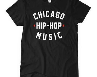 Women's Chicago Hip Hop Music T-shirt - S M L XL 2x - Ladies' Chicago Tee, Rap, Trap, DJ - 4 Colors