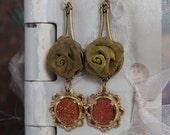 Antique cufflink earrings...