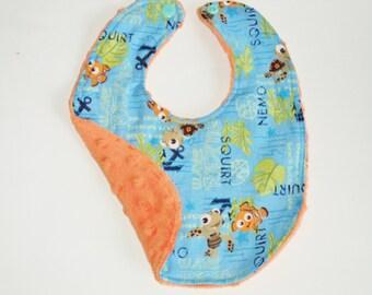 Nemo Bib - Baby Bib - Baby Gift - Newborn Bib - Toddler Bib - Infant Bib - Baby Boy Bib - Baby Girl Bib - Baby Shower Gift - Made To Order
