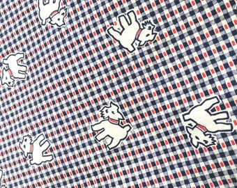 Vintage Novelty Puppy Dog Fabric- Bulk - Yardage - Schnauzer - Scotty - Scottish Terrier - Yorkie - Cairn Terrier