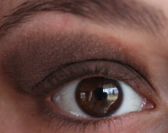 Mineral Eyeshadow - Cocoa Matte Finish Eyeshadow -  Dark Brown  Eyeliner - Vegan Friendly Shadow
