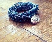 Peace like a River: Versatile crocheted necklace / bracelet / belt / headband