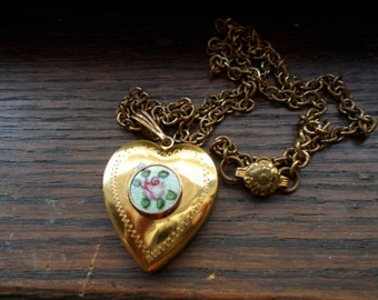Guilloche Heart Locket