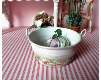 Hand Painted Tin Bowl