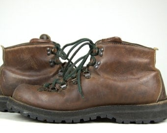 Vintage Danner Mountaineer Leather Lace Up Gortex Lined Hiking Boots, Mens 12 D