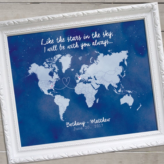 Watercolor world map guest book map wedding guest book like this item gumiabroncs Images