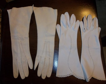 Formal Calfskin Gloves...Made In France, Size 6&1/4...GoodCondition...Cotton Glove Too..Free Shipping