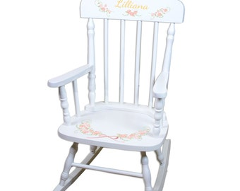 Rocking chair etsy for Personalized kids soft chairs