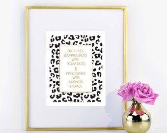 Leopard Spots and Polka Dots Print \\ ACD Original Quote