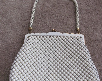 VIntage, White, Whiting & Davis Metal Mesh Purse