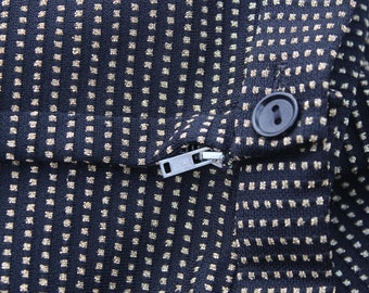 Vintage Black and Gold Maxi Skirt - Metallic Polka Dots Black Full Length Skirt -Halloween Costume-Extra Long Skirt - XS Petite 24 waist