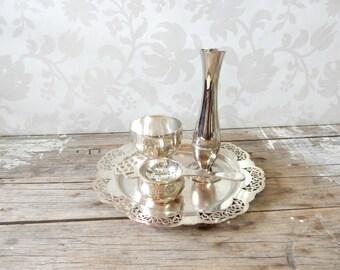 Essay canada silver tea set