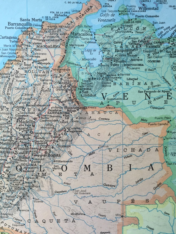 Vintage 1967 rand mcnally world atlas map page peru ecuador on sold by greenbasics gumiabroncs Choice Image
