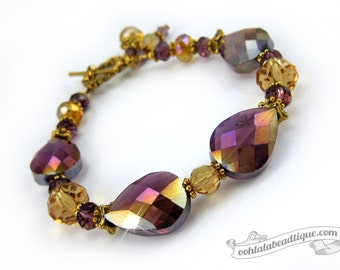 Burgundy Crystal Bracelet bead bracelet burgundy bracelet birthstone jewelry evening bracelet wedding gift under 25 gifts holiday bracelet