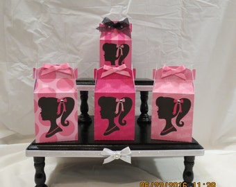 "Barbie Tall Gable Favor/Treat Boxes (2.75""W x 5"" x 1.75""D)"