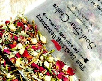 Soul Star Chakra Organic Herbal Tea / Loose Tea / Chakra Teas / Herbal Infusions