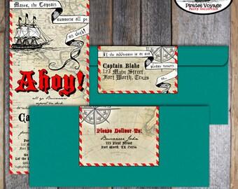Pirate Invitation | Pirate Birthday Invitation | Pirate Birthday Party | Pirate Invite | Pirates of Caribbean | Address Labels | Printable