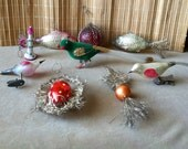 """Vintage  30's - 50's """"LOT of 9 CHRISTMAS ORNAMENTS"""""""