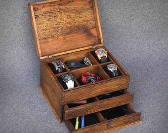 unique personalized watch boxes and leather goods by dferichs watch box watch case watch box for men wood watch box watch display personalized gift custom watch box for 4 watches and double drawer