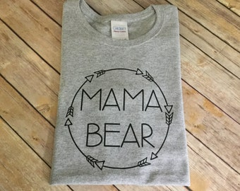 mama papa baby bear arrow Shirt