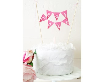 "Fabric Cake Bunting- ""Eat Cake"""