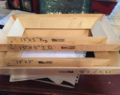 Rectangles set  of 2 for 30 dollars Wood Drop Frame Plate Slump Mold Handmade