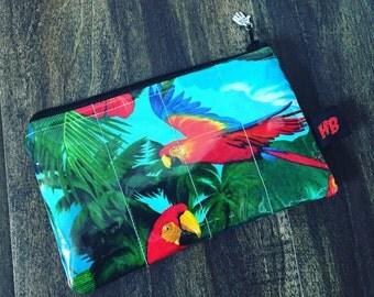 Handmade Tropical Parrot Change Purse