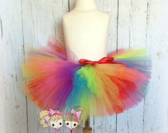 Rainbow Tutu- Custom Tutu- Very Full and fluffy
