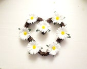 Daisy flowers  wreath ,Daisies  decoration,White Daisy Wreath, summer Wreath, Front Door Wreath