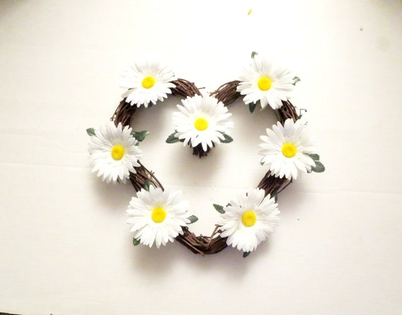 Daisy flowers  wreath ,Daisies  decoration,White Daisy Wreath, summer Wreath, Front Door Wreath