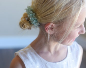 The Wood Anemone: Flower Girl Hair Clip in Baby Blue