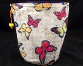 SALE R/M/L Project bag 76 butterflies