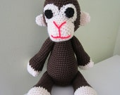 ON SALE - 10% OFF Crochet toy animal...Stuffed  monkey ...Large soft children toy