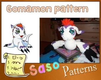 PATTERN - Gomamon crochet - PDF