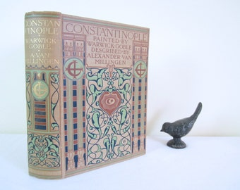 ANTIQUE 1906 CONSTANTINOPLE book - rare, illustrated, hardcover, collectible, 1st edition